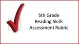 5th Grade Reading Skills Assessment Rubric