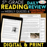 5th Grade Reading Spiral Review, Quizzes & Constructed Res