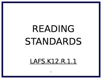 5th Grade Reading Standards