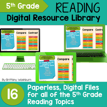 5th Grade Reading Standards Digital Resource Library