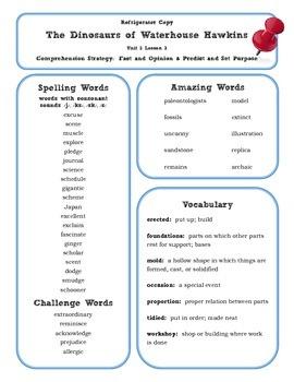 5th Grade Reading Street 2013 Unit 3 Refrigerator Copy