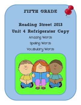 5th Grade Reading Street 2013 Unit 4 Refrigerator Copy