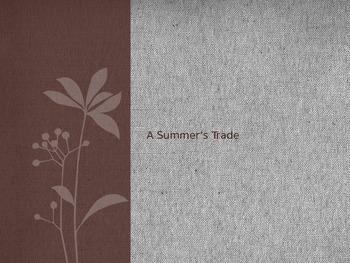 5th Grade Reading Street A Summer's Trade