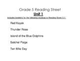 5th Grade Reading Street Activity Pack - Unit 1
