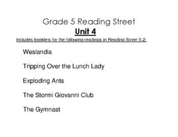 5th Grade Reading Street Activity Pack - Unit 4