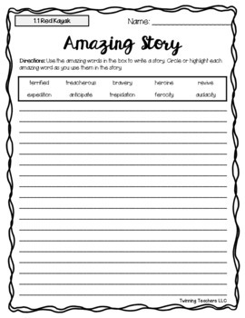 5th Grade Reading Street Amazing Words - Writing Activity UNITS 1-6
