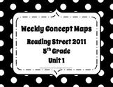 5th Grade Reading Street Concept Maps Unit 1 (Common Core Edition 2011)