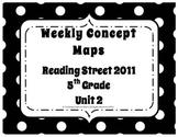 5th Grade Reading Street Concept Maps Unit 2 (Common Core Edition 2011)