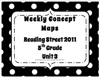 5th Grade Reading Street Concept Maps Unit 3 (Common Core Edition 2011)