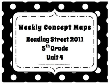 5th Grade Reading Street Concept Maps Unit 4 (Common Core Edition 2011)