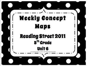 5th Grade Reading Street Concept Maps Unit 6 (Common Core Edition 2011)