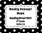 5th Grade Reading Street Concept Maps Units 1-6 (Common Core Edition 2011)