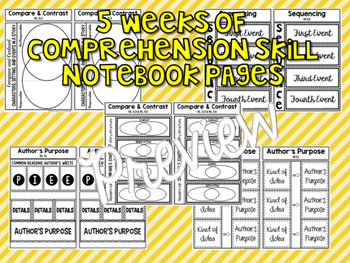 5th Grade Reading Street Interactive Notebook Unit 3: Common Core Edition