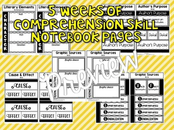 5th Grade Reading Street Interactive Notebook Unit 5: Common Core Edition
