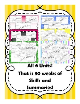 5th Grade Reading Street Skills and Summary Practice All Six Units!