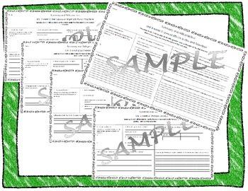 5th Grade Reading Street Skills and Summary Practice Unit 3 weeks 1-5 bundle