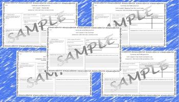 5th Grade Reading Street Skills and Summary Practice Unit 4 weeks 1-5 bundle