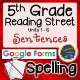 5th Grade Reading Street   Spelling Sentences   Google Forms   Distance Learning
