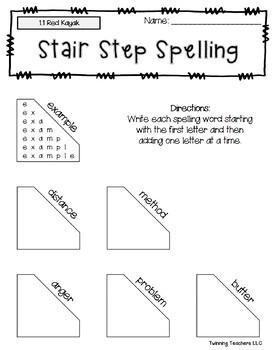 5th Grade Reading Street Spelling - Stair Step Spelling UNITS 1-6