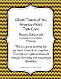5th Grade Reading Street Task Card- Ghost Towns of the American West (CC 2011)