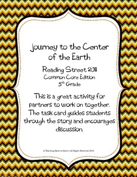 5th Grade Reading Street Task Card- Journey to the Center