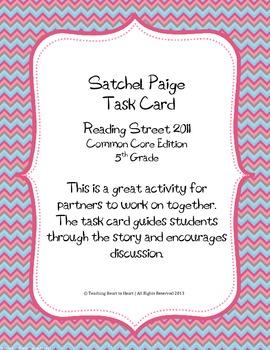5th Grade Reading Street Task Card- Satchel Paige (Common