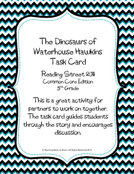 5th Grade Reading Street Task Card-The Dinosaurs of Waterh