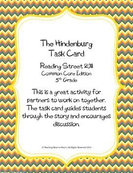 5th Grade Reading Street Task Card- The Hindenburg (Common