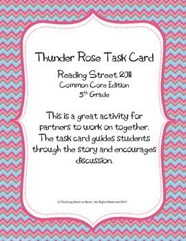 5th Grade Reading Street Task Card- Thunder Rose (Common C