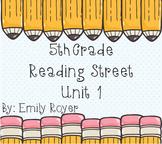 5th Grade Reading Street Unit 1 Materials
