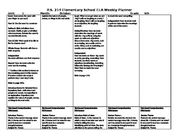 5th Grade Reading Street Unit 1 Week 5 Lesson Plan