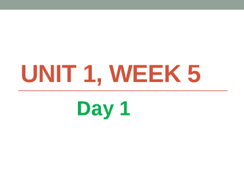 5th Grade Reading Street Unit 1 Week 5 Powerpoint