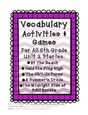 Reading Street 5th Grade Unit 2 Vocabulary Activities and Games BUNDLE