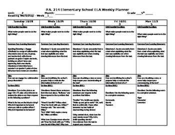 5th Grade Reading Street Unit 2 Week 1 Lesson Plan