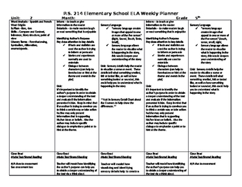 5th Grade Reading Street Unit 2 Week 1 Lesson Plan