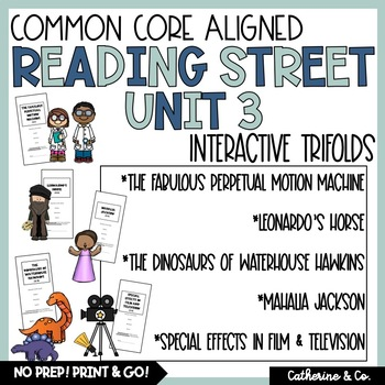5th Grade Reading Street Unit 3 Trifolds (Common Core Edition 2011)