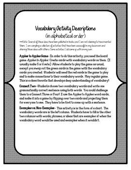 Reading Street 5th Grade Unit 4 Vocabulary Activities and Games BUNDLE