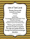 5th Grade Reading Street Unit 5 Task Cards (Common Core Ed