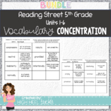 5th Grade Reading Street Units 1-6 Vocabulary Concentration/Memory Game