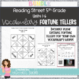 5th Grade Reading Street | Units 1-6 Vocabulary Fortune Tellers | EDITABLE |