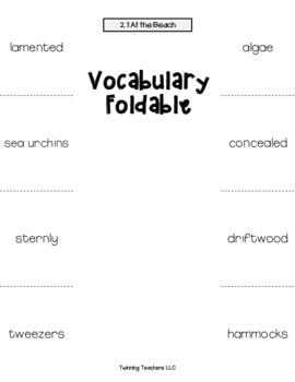 5th Grade Reading Street Vocabulary Foldables UNITS 1-6