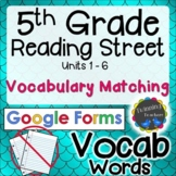 5th Grade Reading Street | Vocabulary Matching | Google Forms Distance Learning