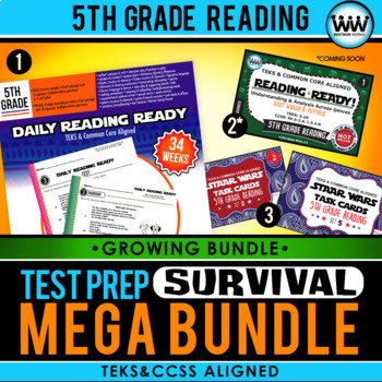 5th Grade Reading – TEST PREP SURVIVAL MEGA BUNDLE {Growing Bundle}