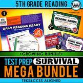 5th Grade Reading – TEST PREP SURVIVAL MEGA BUNDLE {Growing Bundle} TEKS Aligned