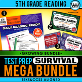 5th Grade Reading – TEST PREP SURVIVAL MEGA BUNDLE {Growing Bundle} TEKS Aligned