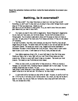 5th Grade Reading Test