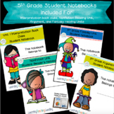 5th Grade Reading Units Student Notebooks Bundle