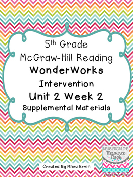 5th Grade Reading WonderWorks Supplement- Unit 2 Week 2