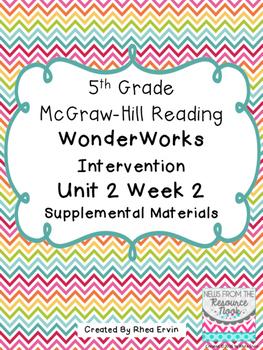 5th Grade Reading WonderWorks Supplement- Unit 2 Week 2