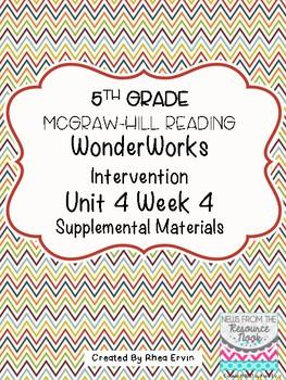 5th Grade Reading WonderWorks Supplement - Unit 4 Week 4
